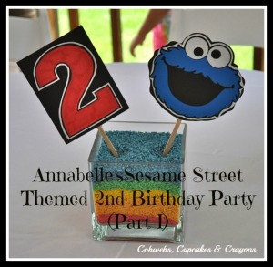 Cookie Monster Centerpieces
